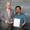 "Dolphin Award for Outstanding Teaching by a Member of the Full-Time Faculty:<br /> Probal Banerjee, Professor, Department of Chemistry and the Center for Developmental Neuroscience<br /> <br /> You joined the Department of Chemistry faculty at the College as an Assistant Professor in 1994, and you rose to the rank of Professor in 2005. You have also been a Joint Coordinator of the Neuroscience program since 2003. You earned a BS degree in Chemistry with Honors and an MS degree in Organic Chemistry from Jadavpur University in Calcutta, India; and a PhD in Bio-Organic Chemistry from the Indian Institute of Science in Bangalore. This is your second Dolphin Award, as you were honored for Outstanding Achievement in Academic Excellence and Scholarship in 2004. We now turn our focus to your exemplary dedication and commitment to teaching. Throughout your tenure as a faculty member at CSI, you have gone above and beyond to ensure that our students receive the best education possible to foster their academic and professional success after they leave CSI. Among your many curricular achievements are the design of a new course to train Biochemistry majors in state-of-the-art experimental techniques and a course to provide students with the understanding that they need to take the ""First Exam"" to enter the Doctoral program. Thanks to this new class, the overall fail rate has dropped significantly and many students have done extremely well on the ""First Exam."" You are also known as an effective and compassionate educator in the classroom, with the ability to use your great comprehension for the complex concepts that you teach and break them down in a simple and clear manner, while commanding constant interest from your pupils. Outside of the classroom, you are always available, irrespective of other demands on your time, to assist students with questions, and mentor doctoral research students.<br /> <br /> You exemplify CSI's ideal of a teacher who empowers students to succeed."
