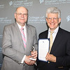"Dolphin Award for Outstanding Service and Contribution to the College by a Member of the Full-Time Faculty:<br /> Alan Zimmerman, Professor, Department of Business<br /> <br /> You joined the Business faculty at the College of Staten Island as an Assistant Professor in 1998. You received your Bachelor of Science degree in Communications from Temple University, a Master's of Business Administration from Duquesne University, and your Doctor of Professional Studies degree in International Business/Marketing from Pace University. You have been described by a colleague in your Department as ""extremely engaged with our community"" and ""the heart and soul of the International Business program"" who has considerably raised interest in the program over the last decade. You are regularly engaged with many student clubs and organizations, even serving as the founding faculty advisor for the International Business Society for the past ten years. You have helped to foster an interest in international study through your role in the Phi Beta Delta Honor Society, and your development of a strong student and faculty exchange relationship with the Dublin Institute of Technology, and a resulting ten-day field course to DIT that you lead. In addition, you have served on a variety of committees, including the University Faculty Senate, numerous executive search committees, and you spent a semester as Acting Chair for your Department. Beyond CSI and CUNY, you have made vast contributions to the understanding of various international topics, including the pirating of goods, through lectures at many prestigious institutions, from the CUNY Graduate School of Journalism to the U.S. Department of Commerce.<br /> <br /> Today, we celebrate your dedication to our College and its students."