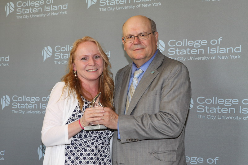 Outstanding Service and Contribution to the College by a Member of the Non-Instructional Staff in Clerical Function: Elaine Rocco, CUNY College Assistant, the Center for Advising and Academic Success.