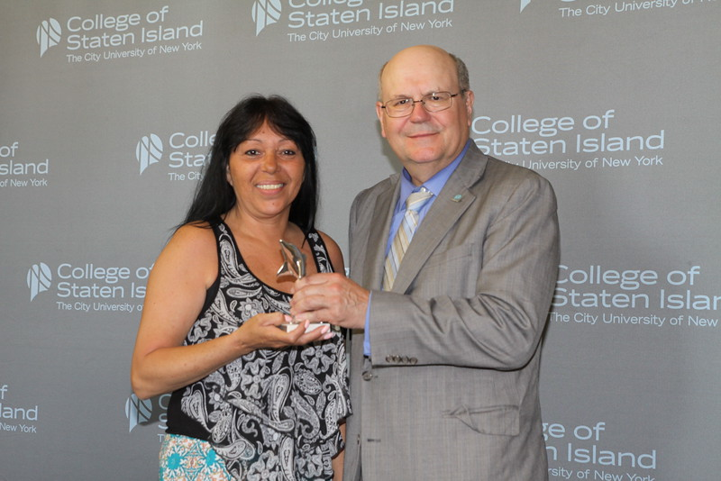 Outstanding Service and Contribution to the College by a Member of the Non-Instructional Staff in Maintenance, Operations, Security, and Support Function: Lucy Tirado, Custodial Assistant, Office of Buildings and Grounds