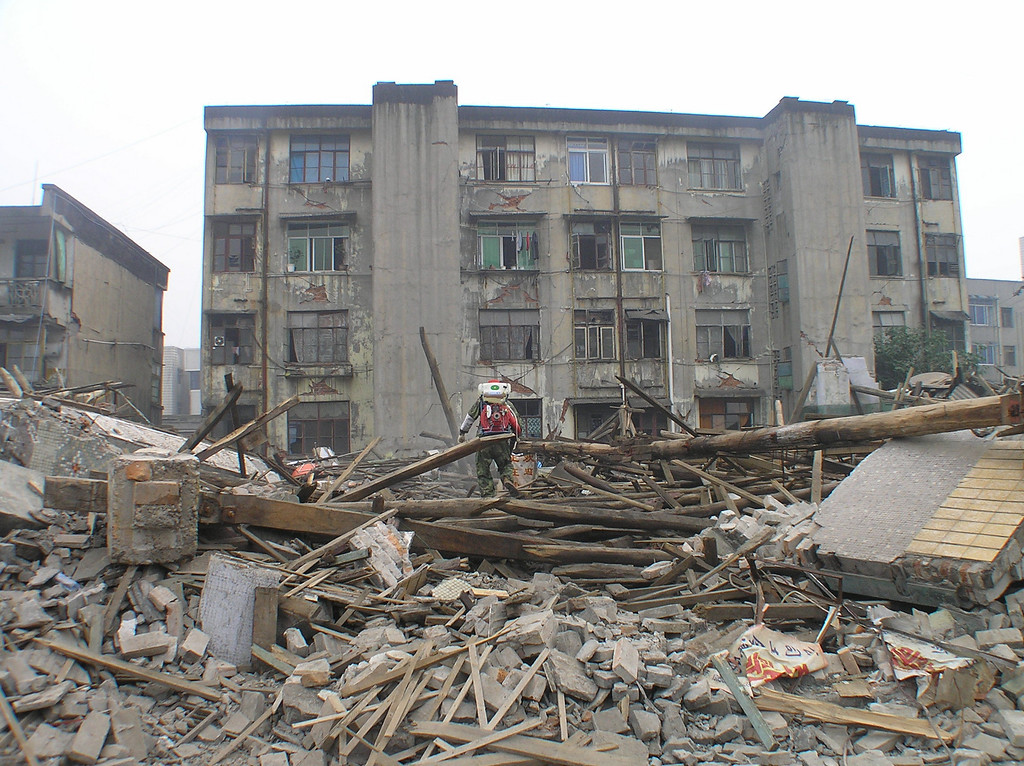 Many older residential buildings built in the 1970s and early 1980s were leveled off in Hanwang, a township hit hard by the earthquake due to its location on the fault line.