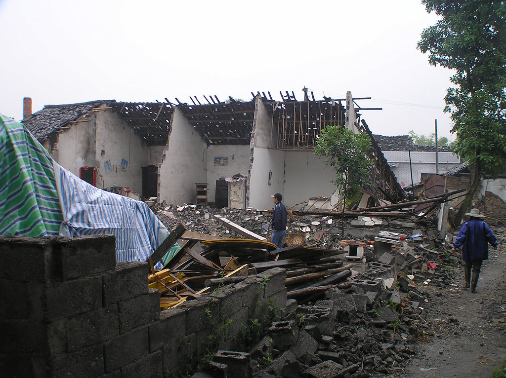 "The house of a farmer family, owned by our star in the movie (We call her ""Blondie""), was also completely destroyed."