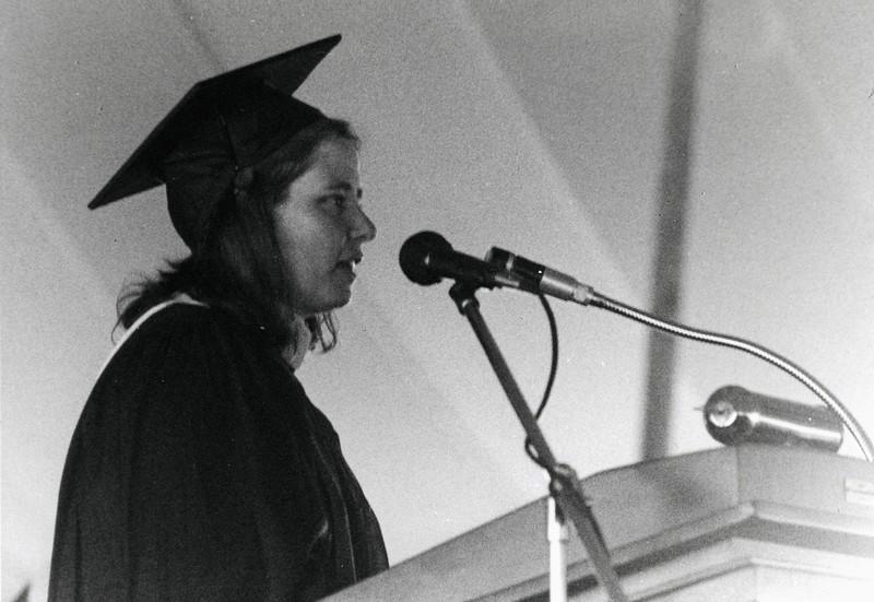 Brigid O'Brien at Graduation, 1985