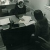 Sister Barbara Kauffman in the FInancial Aid Office, 1965