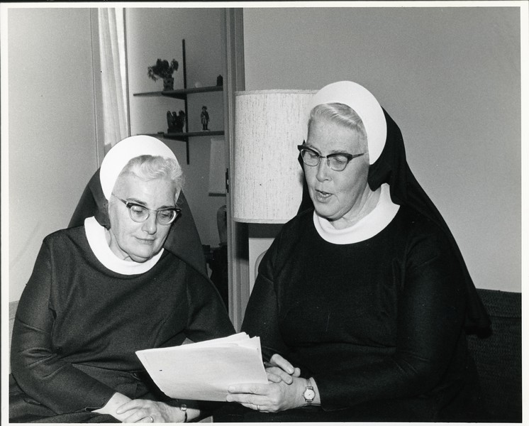 Sister Elizabeth Marie and Sister Mary Cecilia, 1976