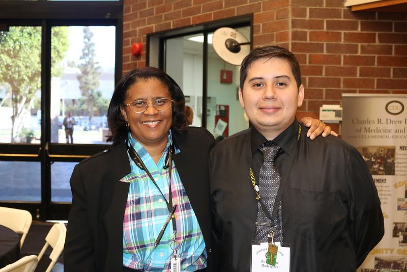 Former COM Interim Dean Daphne Calmes and Jeonathan Rodriguez