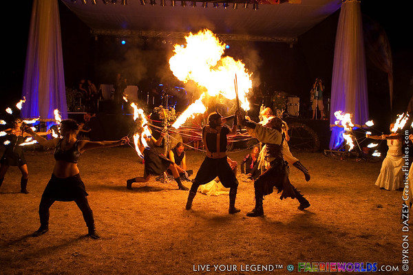 Fire Show & Night Shots by Byron Dazey