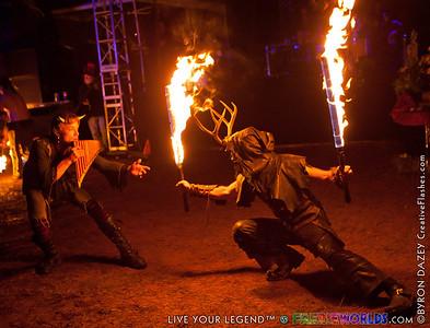 Fire Show by Byron Dazey