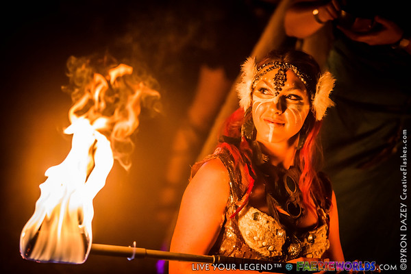 The Harvest Wolf Fire Show by MythMaker
