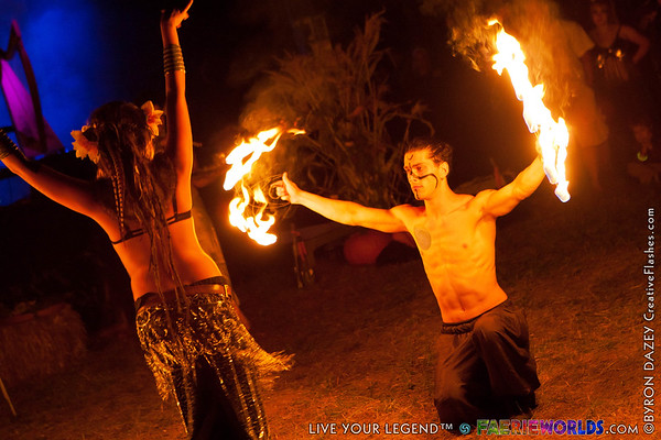 Fire Show & Bonfire by Byron Dazey