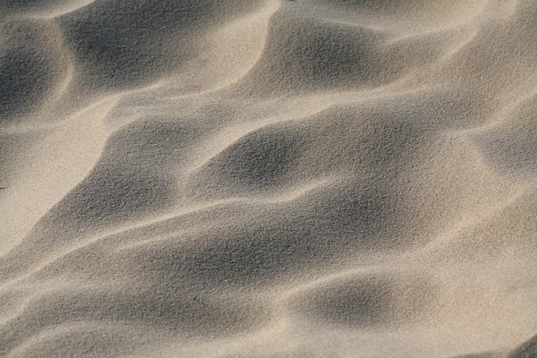 Sandstrukturen am Strand
