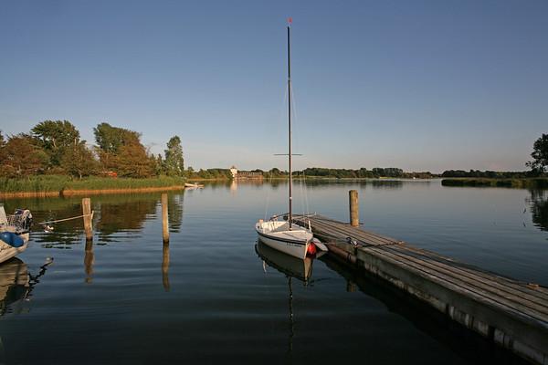 Schleiregion, Ostsee, ein kleiner Hafen bei Lindaunis.