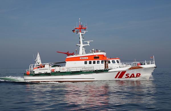02.10.2011, Kiel. Das in Laboe bei Kiel stationierte Seenot-Rettungsschiff BERLIN (SAR = save and rescue) bei einer Fahrt in der Kieler Bucht.