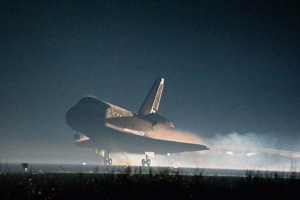 Shuttle lands for final time
