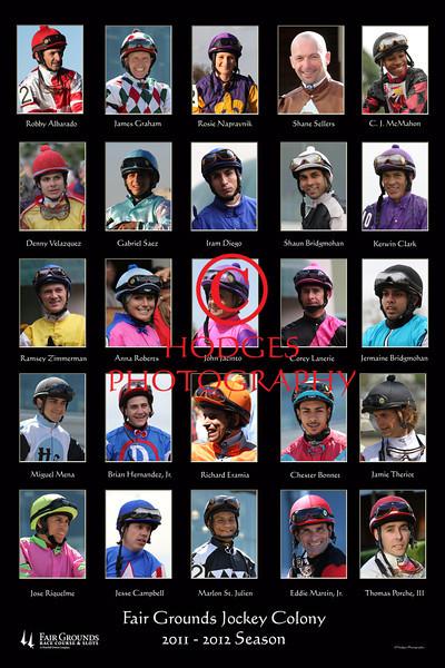 Fair Grounds Jockey Colony for the 2011-2012 Fair Grounds Race Course meeting.