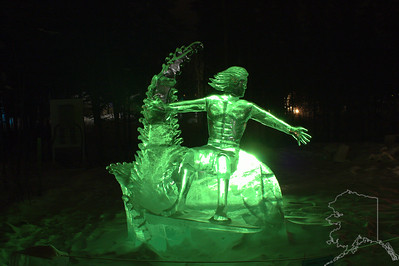 Fairbanks Ice Festival. It is a Ice Sculpture World Championship held every year. They use ice out of a local river. Single block and multiple blocks are used. It is way cold this time of year in Fairbanks. It was about -15 the night I took these pic's.