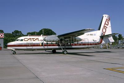 CATA Línea Aérea Fairchild F-27A LV-RBO (msn 78) AEP (Bruce Drum). Image: 105434.