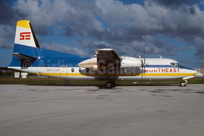 Southeast Airlines (2nd) Fairchild F-27 N4302F (msn 60) MIA (Bruce Drum). Image: 103149.