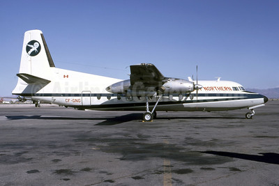 Damaged beyond repair on landing at Inuvik, NT on December 20, 1969
