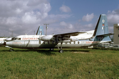 Southeast Airlines (2nd) Fairchild F-27 N2704 (msn 7) MIA (Bruce Drum). Image: 103142.