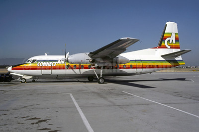 Connectair Airlines-CA Fairchild F-27J N1823G (msn 112) SJC (Scott K. Meredith - Bruce Drum Collection). Image: 950564.