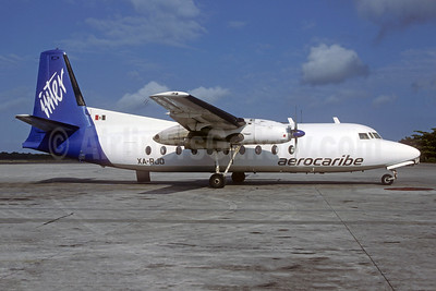 Aerocaribe Inter Fairchild F-27J XA-RJO (msn 93) CUN (Christian Volpati Collection). Image: 950619.