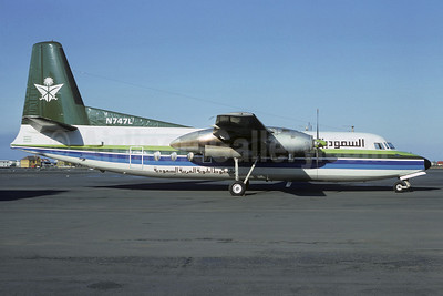 Saudia (Saudi Arabian Airlines) Fairchild F-27F N747L (msn 38) REK (Jacques Guillem Collection). Image: 907633.