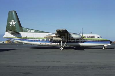 Saudia (Saudi Arabian Airlines) Fairchild F-27F N747L (msn 38) REK (Jacques Guillem Collection). Image: 907633.