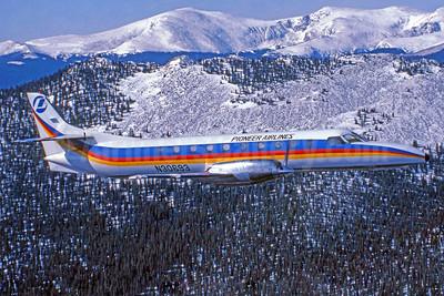 Pioneer Airlines (3rd) Fairchild Swearingen SA-227AC Metro III N30693 (msn AC-490) (Jay Selman). Image: 403606.