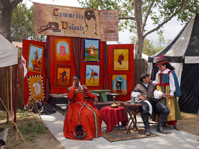 Performers taking a break at the Ren Faire - 9 May 2010