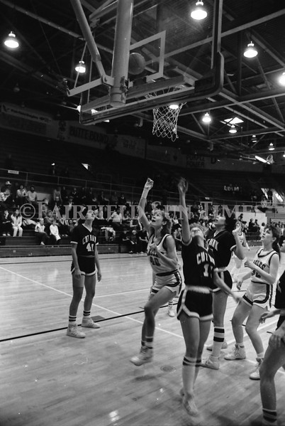 1985 11 20 FFT#47 Girls Northern B Tourney in Shelby, Fairfield vs Simms, Cut Bank_0035