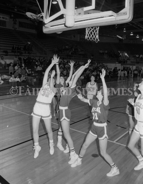 1985 11 20 FFT#47 Girls Northern B Tourney in Shelby, Fairfield vs Simms, Cut Bank_0037