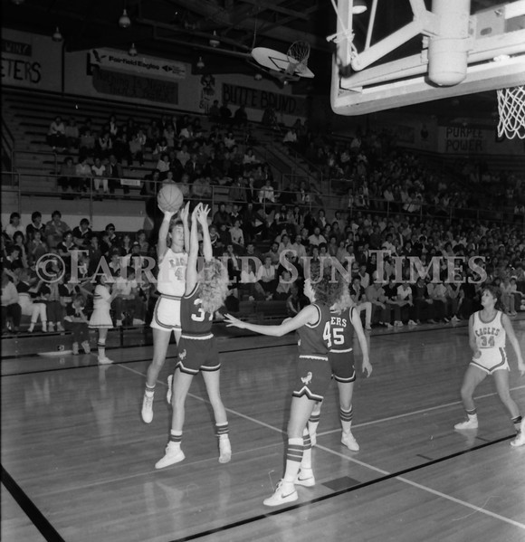 1985 11 20 FFT#47 Girls Northern B Tourney in Shelby, Fairfield vs Simms, Cut Bank_0013