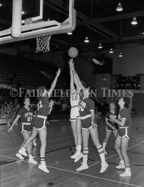 1985 11 20 FFT#47 Girls Northern B Tourney in Shelby, Fairfield vs Simms, Cut Bank_0009