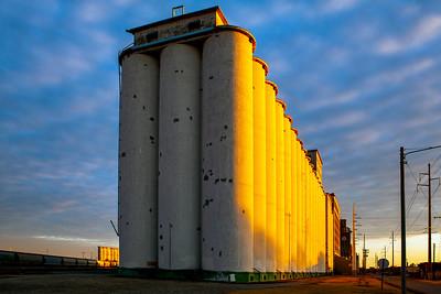 Grain Elevator Sunset Wichita KS_2774