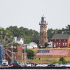 Jonathan Tressler - The News-Herald <br> The Fairport Harbor Marine Museum and Lighthouse, in all its glory, during Fairport Harbor's Mardi Gras Festival, July 2016.