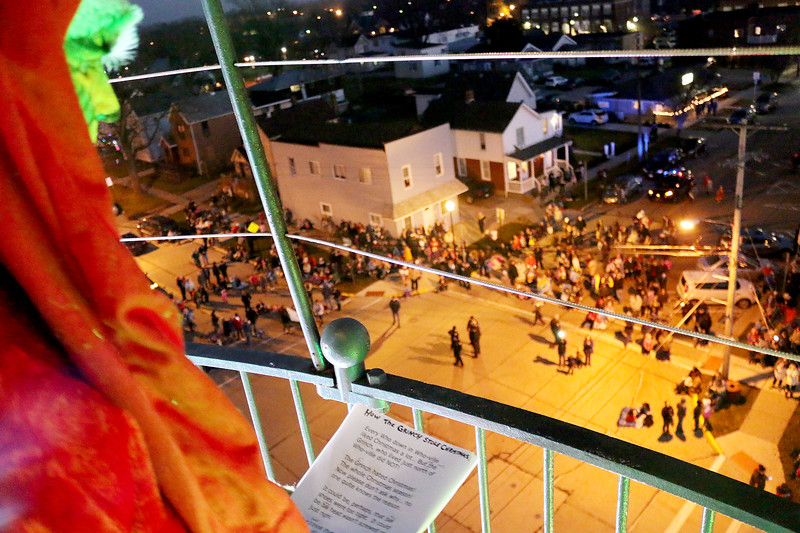 Jonathan Tressler - The News-Herald <br> A Grinch-eye view from atop the Historic Lighthouse in Fairport Harbor, Dec. 5, 2015.
