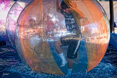 Boys in a bubble (on water).