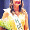 Will Fehlinger | The Herald-Tribune<br /> Ashlie Raible smiles for the audience after being named the 2017 Franklin County 4-H Fair Queen Sunday night at Franklin County High School.