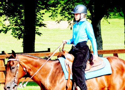Will Fehlinger | The Herald-Tribune Alex Gillman was one of several entrants in the Franklin County 4-H Fair Horse and Pony Show over the first weekend of the county fair in Brookville.