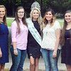 Will Fehlinger | The Herald-Tribune<br /> 2016 Franklin County Queen Madison Payne (center wearing crown) has advised current contestants (from left) Ashlie Raible, Victoria Volk, Shelby Kolb, Makayla Ball, Clare Weidner and Alexa Brehm. The pageant will be held Sunday, June 25, at 6:30 p.m. at the Franklin County High School auditorium.