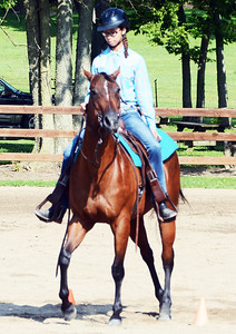 Will Fehlinger | The Herald-Tribune Kamryn Dozier maneuvers her steed for the judges at the Franklin County 4-H Fair Horse and Pony Show July 16.