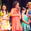 Will Fehlinger | The Herald-Tribune<br /> Marley Boone (from left), Clara Glardon , Bryli Burns, Piper Knight and Anabelle Wiesemann received bouquets during the sixth annual Franklin County 4-H Fair Princess Program June 24, held in conjunction with the Franklin County 4-H Fair Queen Pageant.