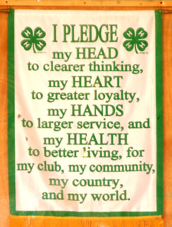 Debbie Blank | The Herald-Tribune<br /> The 4-H pledge has been around for awhile, but still makes sense.
