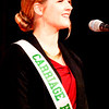 Will Fehlinger | The Herald-Tribune<br /> Ingrid Miller introduces herself to the crowd at the June 24 Franklin County 4-H Fair Queen Pageant.