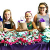 Submitted photo<br /> Princess Program participants (from left) Anabelle Wiesemann, Marley Boone, Piper Knight, Bryli Burns and Clara Glardon display the no-sew blankets that they made to donate to Margaret Mary Health.