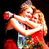 Will Fehlinger | The Herald-Tribune<br /> Ingrid Miller receives a congratulatory hug from mother Deborah after being crowned the 2018 Franklin County 4-H Fair Queen Sunday night in Brookville.