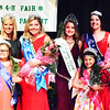 Will Fehlinger | The Herald-Tribune<br /> Queen Ingrid Miller (fourth from left) is surrounded by (front row from left) Miss Personality Bryli Burns and 2018 Princess Clara Glardon; (back row) 2017 Queen Ashlie Raible, 2018 Miss Indiana State Fair Audrey Campbell, first runner-up and Miss Congeniality Grace Moster, second runner-up Clare Weidner and third runner-up Alexa Brehm.
