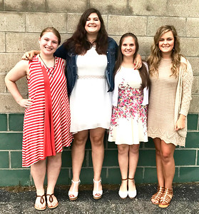 Submitted photo Franklin County 4-H Fair Queen candidates include (from left) Alexa Brehm, India Burris, Karen Kahles and Kristen Kolb.