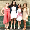 Submitted photo<br /> Franklin County 4-H Fair Queen candidates include (from left) Alexa Brehm, India Burris, Karen Kahles and Kristen Kolb.
